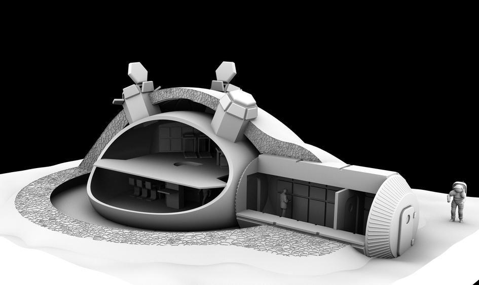 Primer motor de avión fabricado con impresora 3D 3D-printed_lunar_base_design_fullwidth