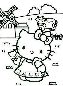 Desenho como desenhar o it hello kitty pintar e colorir