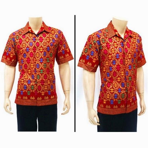 Kemeja Batik Pria motif Prada Bali