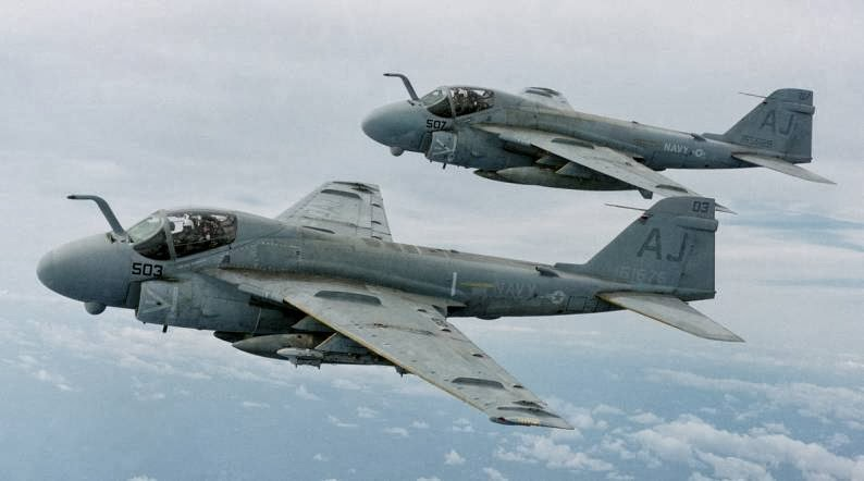 VA-35 Black Panthers Intruder in flight