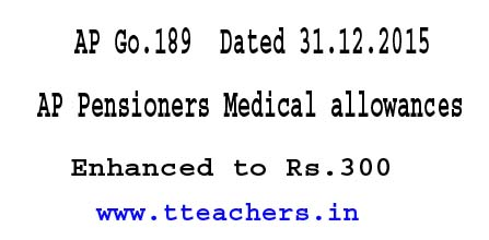 AP Pensioners Medical allowances-AP PRC Go 189