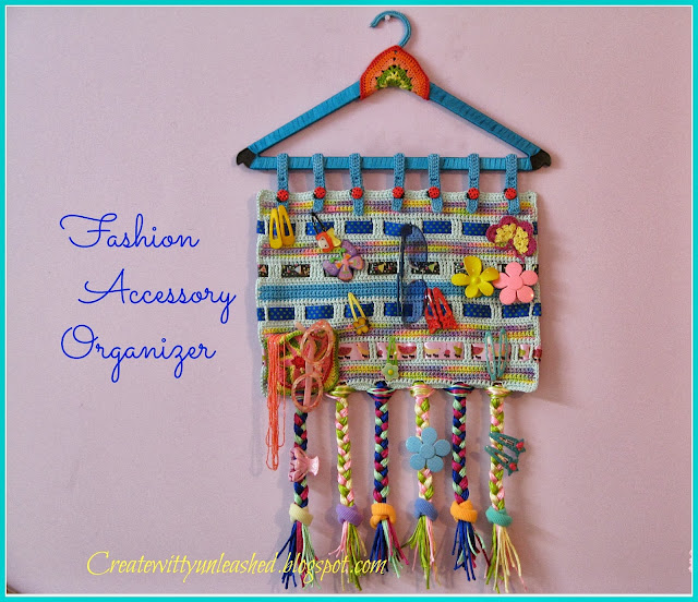Crochet hairclip organizer