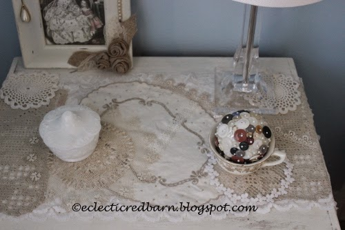 Eclectic Red Barn: Doily dresser scarf _ top