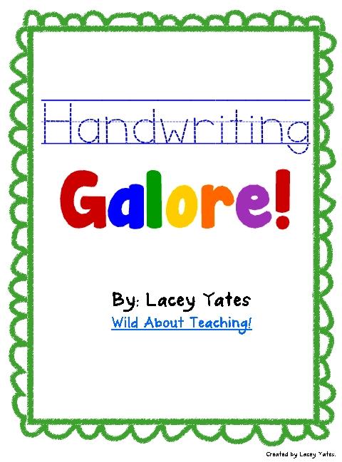 Wild about Teaching!: Handwriting Galore