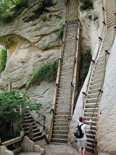 The most dangerous hike in the world, Mt. Huashan