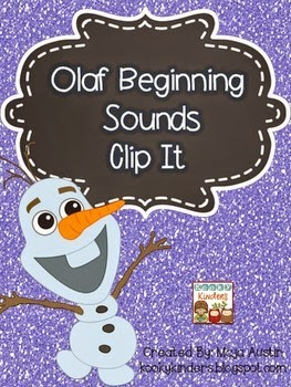 http://www.teacherspayteachers.com/Product/Olaf-Beginning-Sounds-Clip-It-1597283