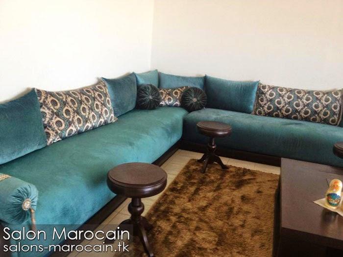 Salon marocain bleu roi exceptionnel