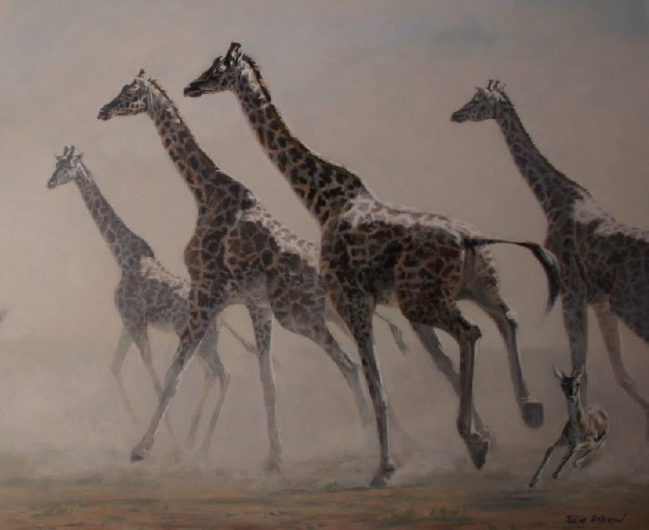 JULIE ASKEW -  PAINTER, Conservationist, Explorer, Art Science,; Visit the official site