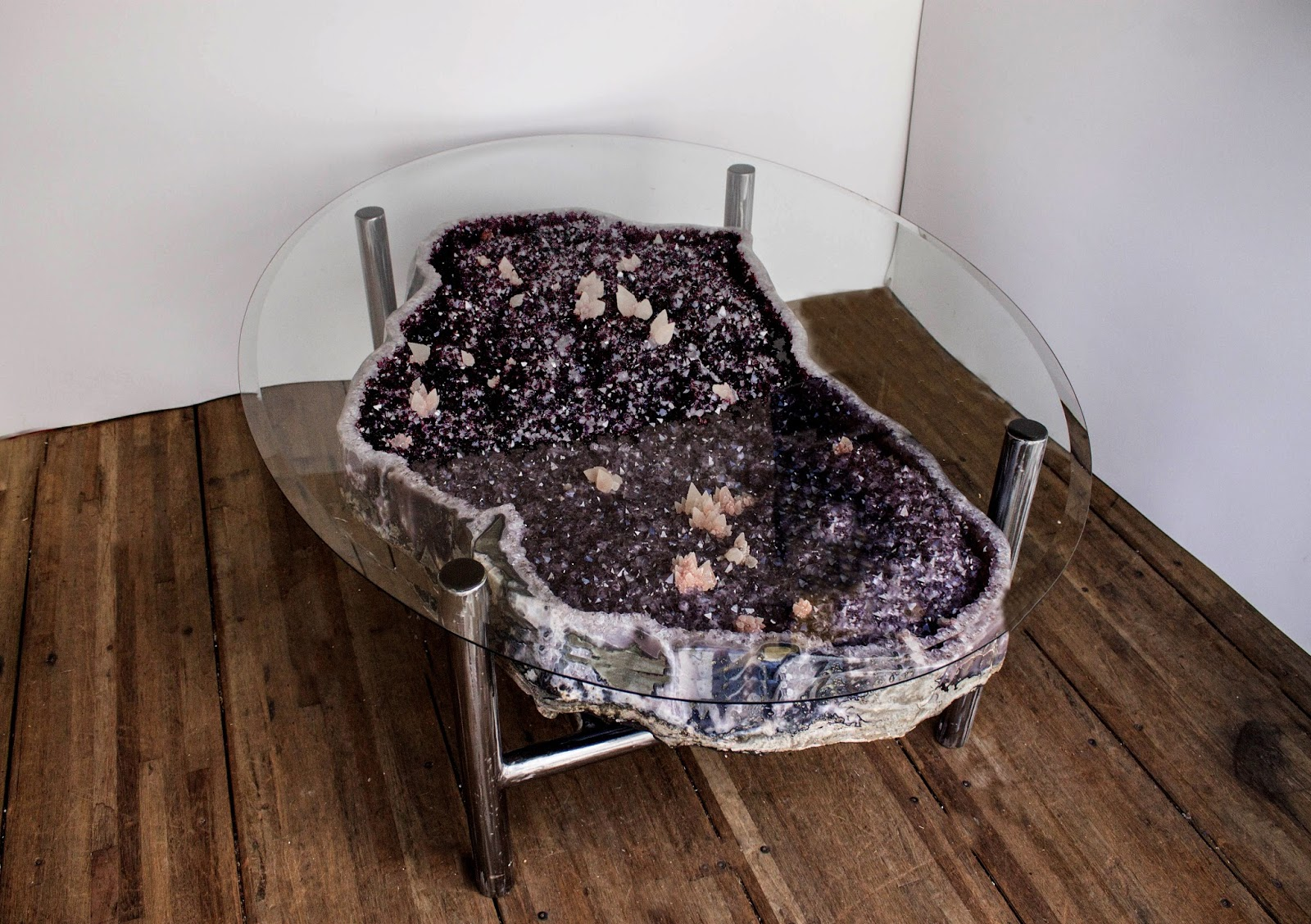 Geode Decor touchstone gallery : citrine and amethyst décor tables
