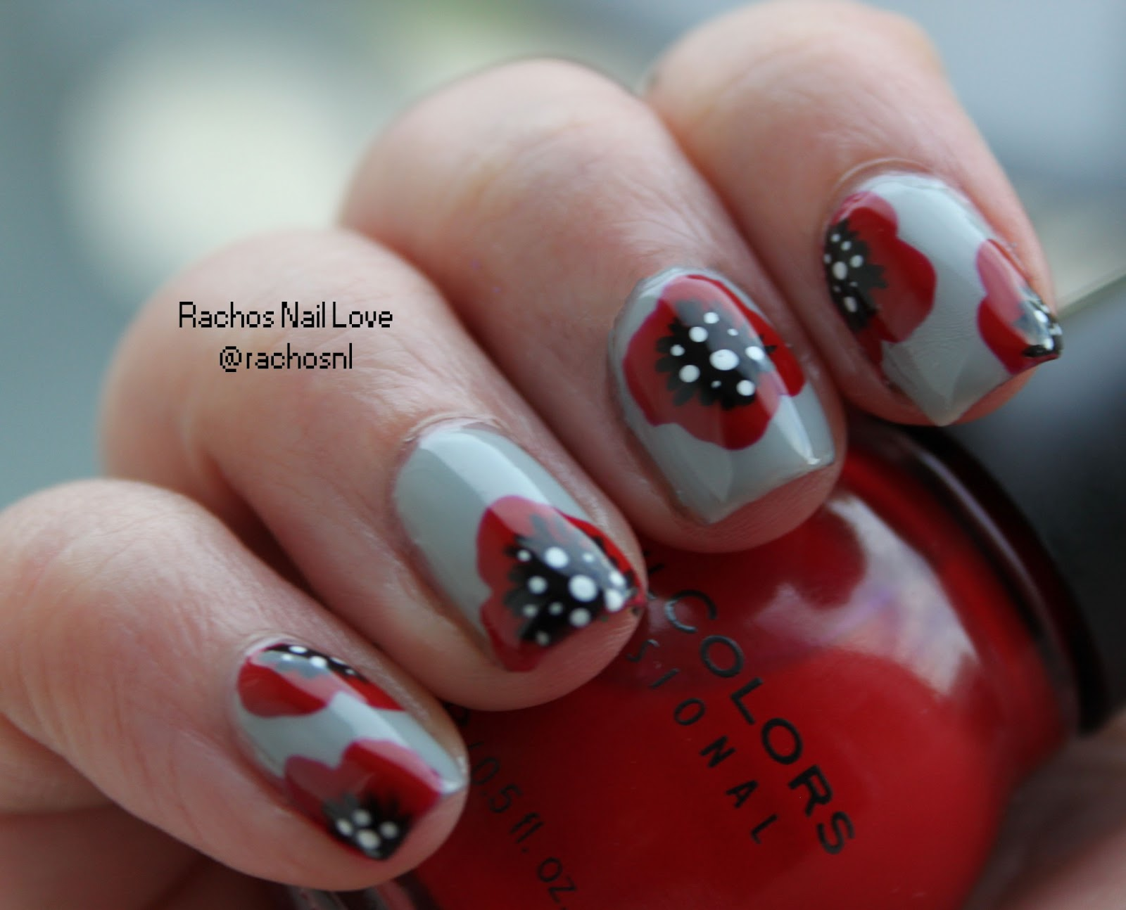 Rachos Nail Love Flowers For Mom Nail Art Challenge Day 5 Poppies