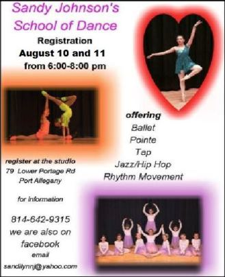 8-10/11 Sandy Johnson's Dance Registration