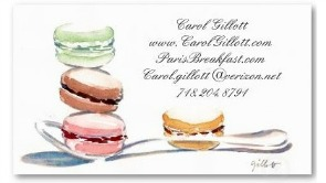 Macaron business cards