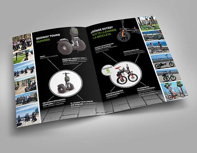 Maquetación de catálogos en Barcelona para empresa de segway y bicicletas eléctricas