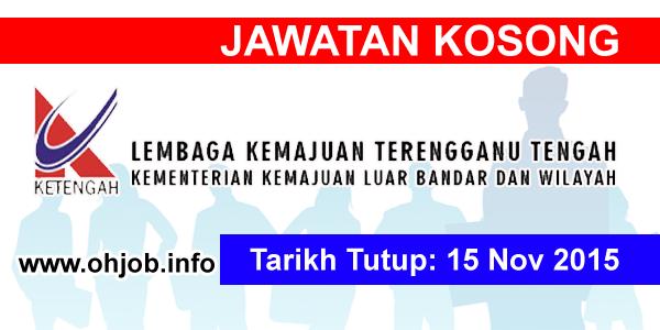 Jawatan Kerja Kosong Lembaga Kemajuan Terengganu Tengah (KETENGAH) logo www.ohjob.info november 2015