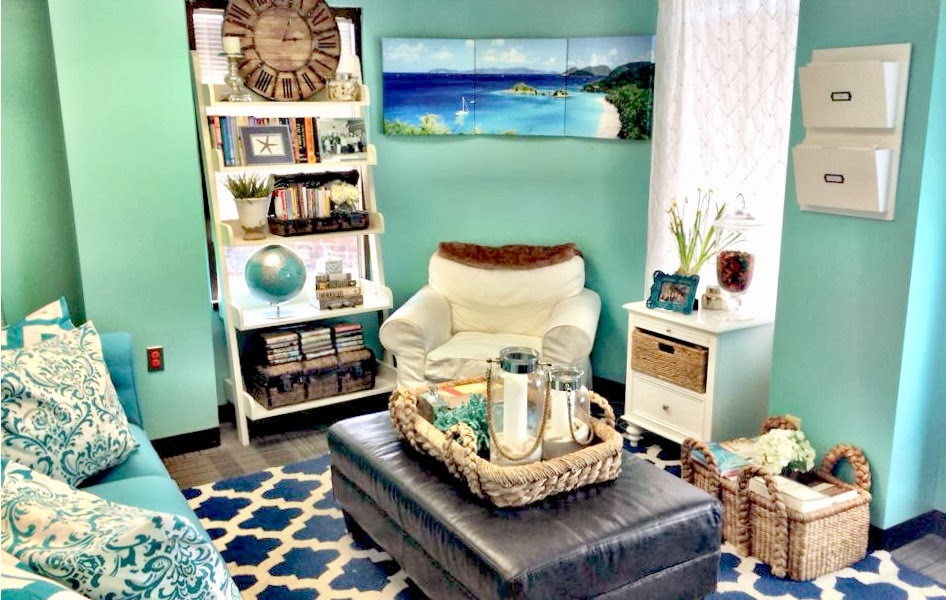 beach theme inspired office