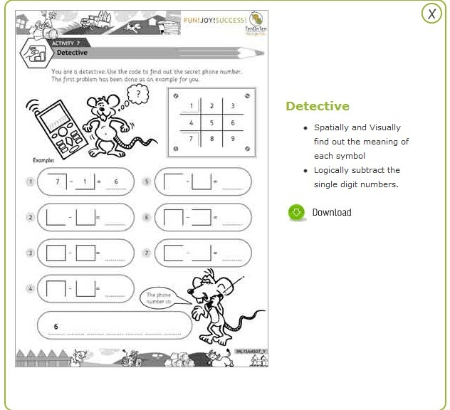 Grade 1 math games worksheets