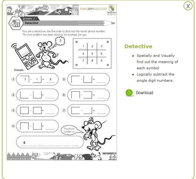 Grade 1 math games worksheets