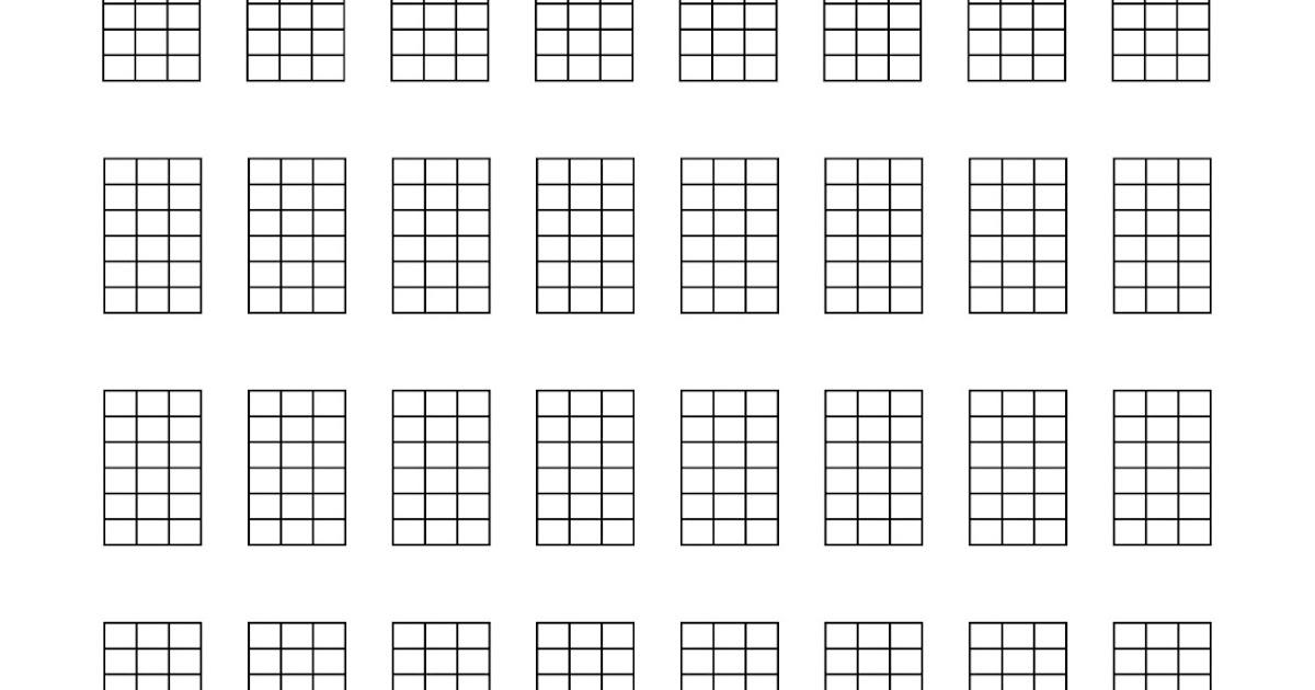 UKEonomics: Blank Ukulele Tabs and Chord Charts!