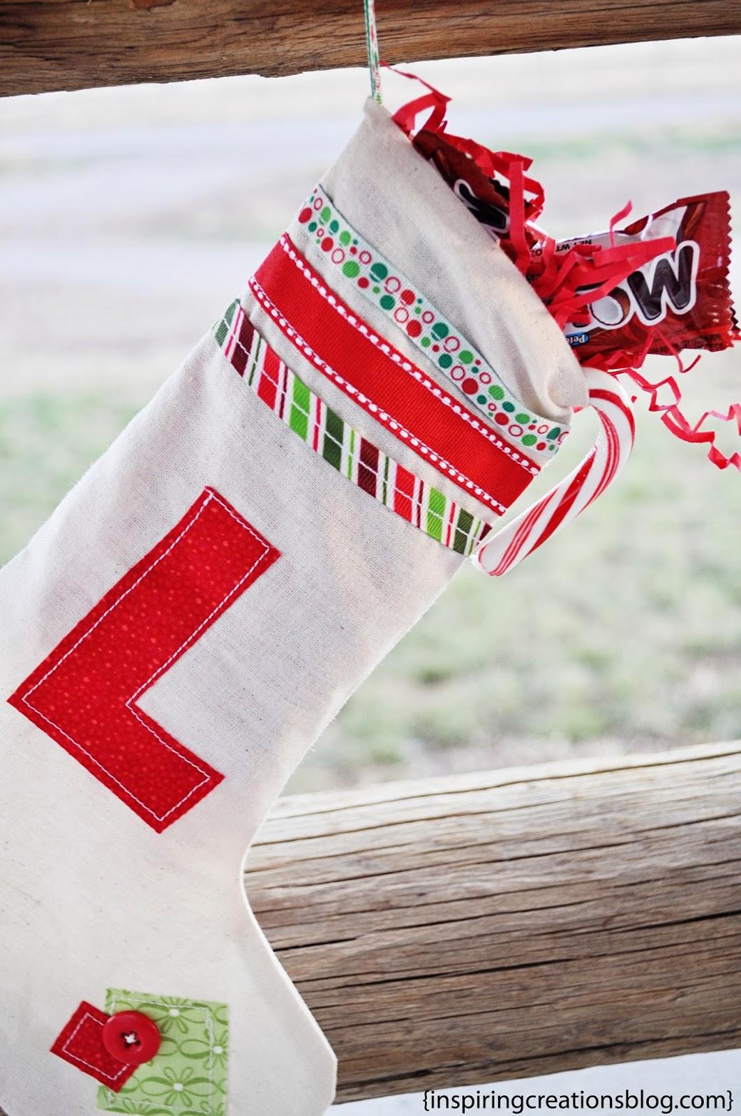 Inspiring Creations: DIY Monogrammed Stocking