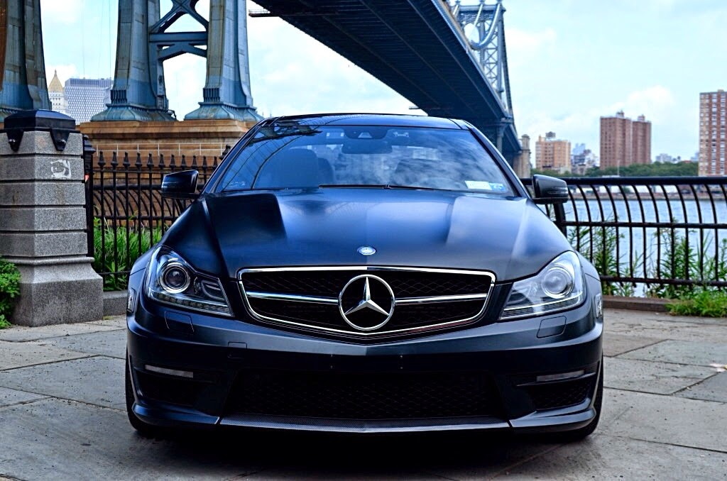Mercedes benz c63 amg edition 1 matte black coupe benztuning for Mercedes benz c63 amg black edition