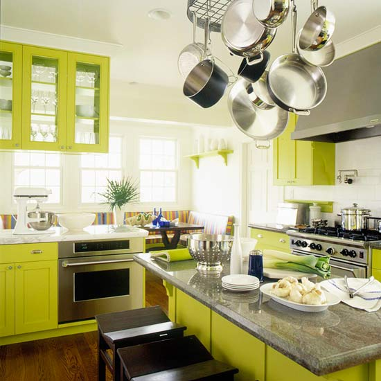 Green Brown Kitchen Ideas: Green Kitchen Design New Ideas 2012