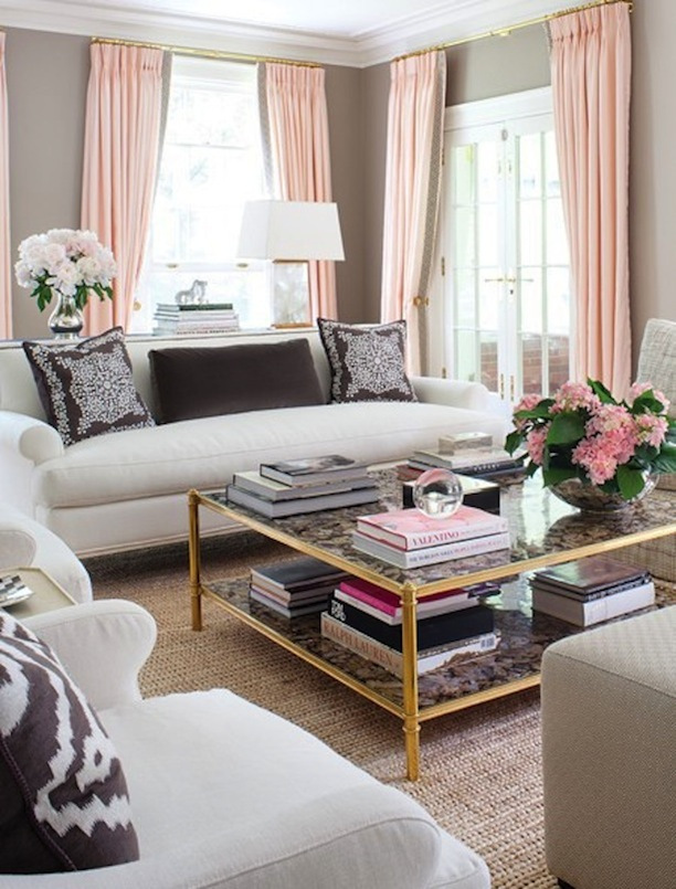 Sybaritic Spaces Inspiration For A Pink And Grey Living Room