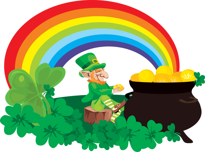 nailsn cupcakes first st pattys day mani gold at the Pot of Gold Art rainbow and pot of gold clipart clipart