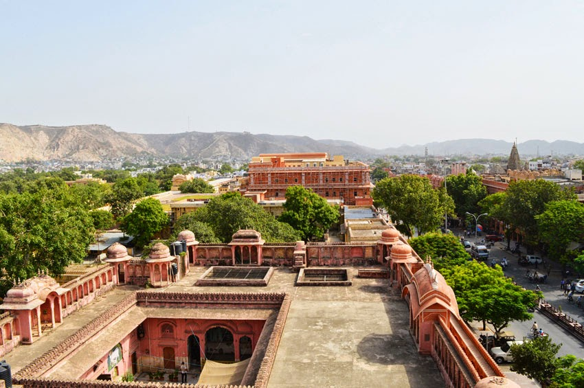 Pink city from Hawa Mahal