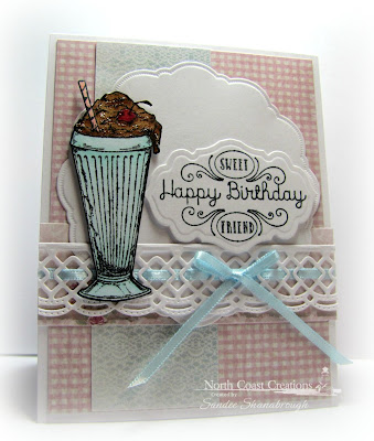 North Coast Creations Stamp sets: Ice Cream Shoppe, Our Daily Bread Designs Custom Dies: Doily, Beautiful Borders, Antique Labels and Border, Our Daily Bread Designs Shabby Rose Paper Collection