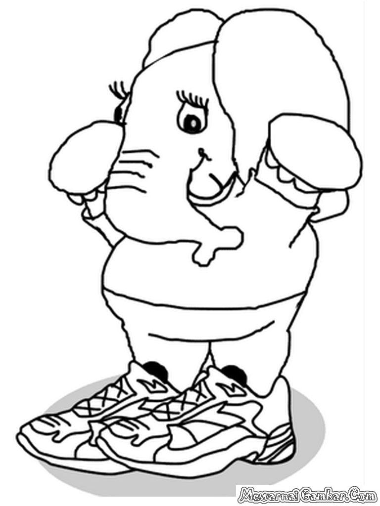 Mewarnai Gambar Gajah | Mewarnai Gambar