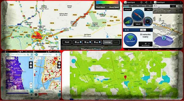 موقعين لمعرفة قوة إشارة 3G و4G وحتى الواي فاي في مدينتك أو حيك وكذلك أبراج الاتصالات الأقرب اليك