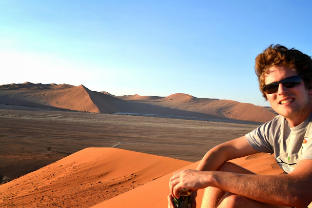 Sundowners on top of Dune 45, Sossusvlei