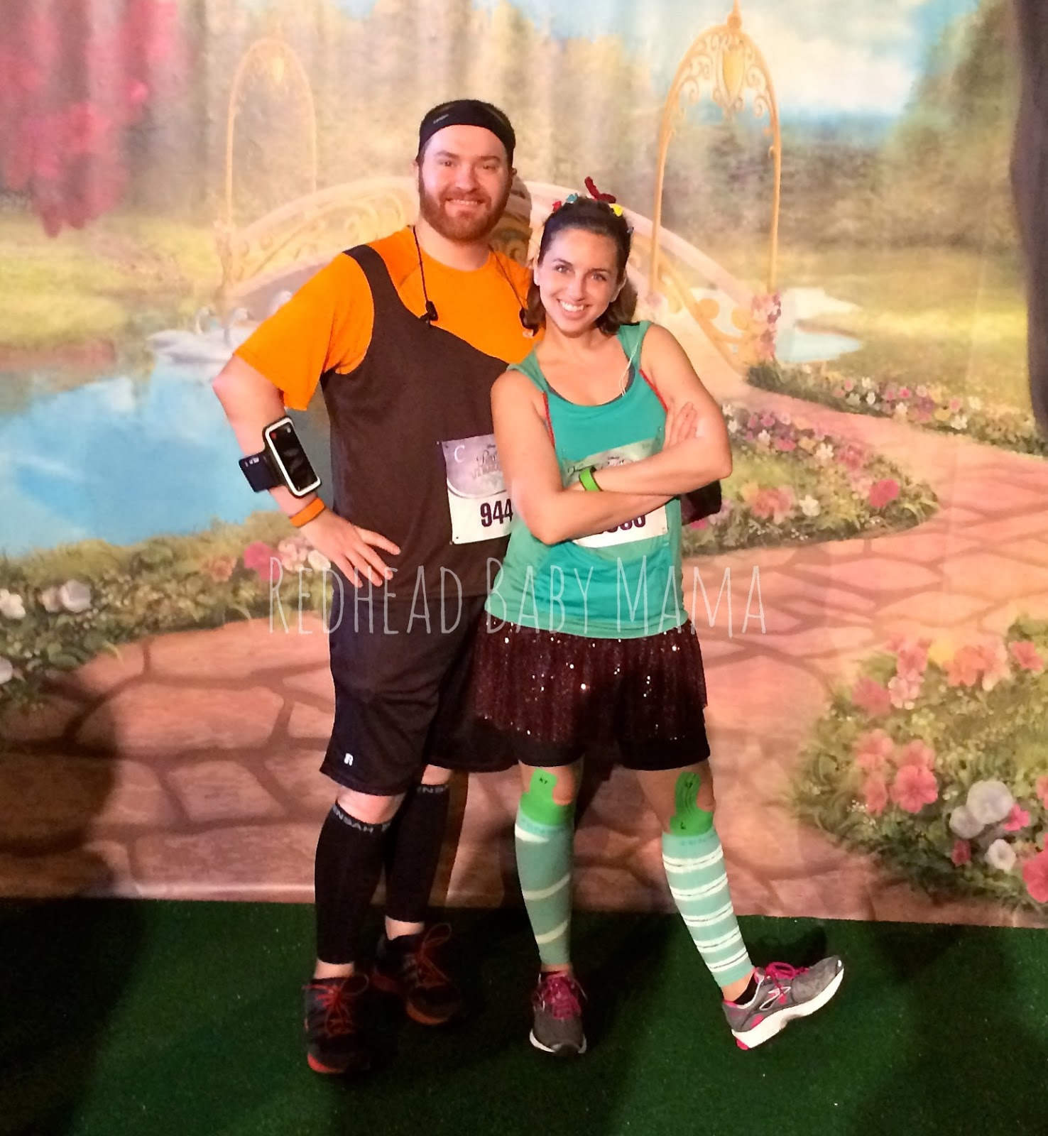 Vanellope Von Schweetz and Wreck it Ralph runDisney running Cosumes