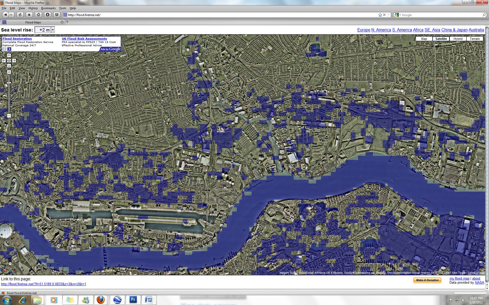 flood map east london 1 2m
