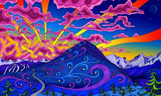 trippy psychedelic background wallpaper 5