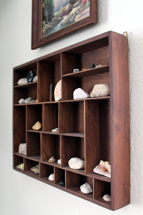 Rocks, Gems, and Stones in Curio Shelf