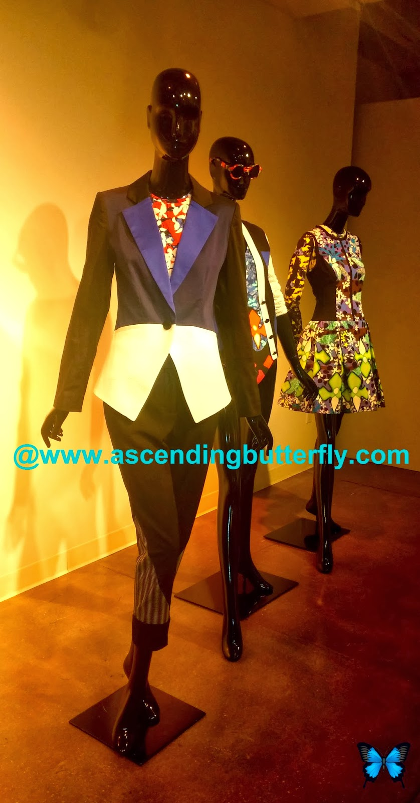 PETER PILOTTO for Target Blazer in Blue Black White Colorblock Shirt in Red Floral Print Pant in Black Check Print