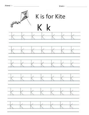 Kindergarten Worksheets Alphabet Tracing Worksheets K