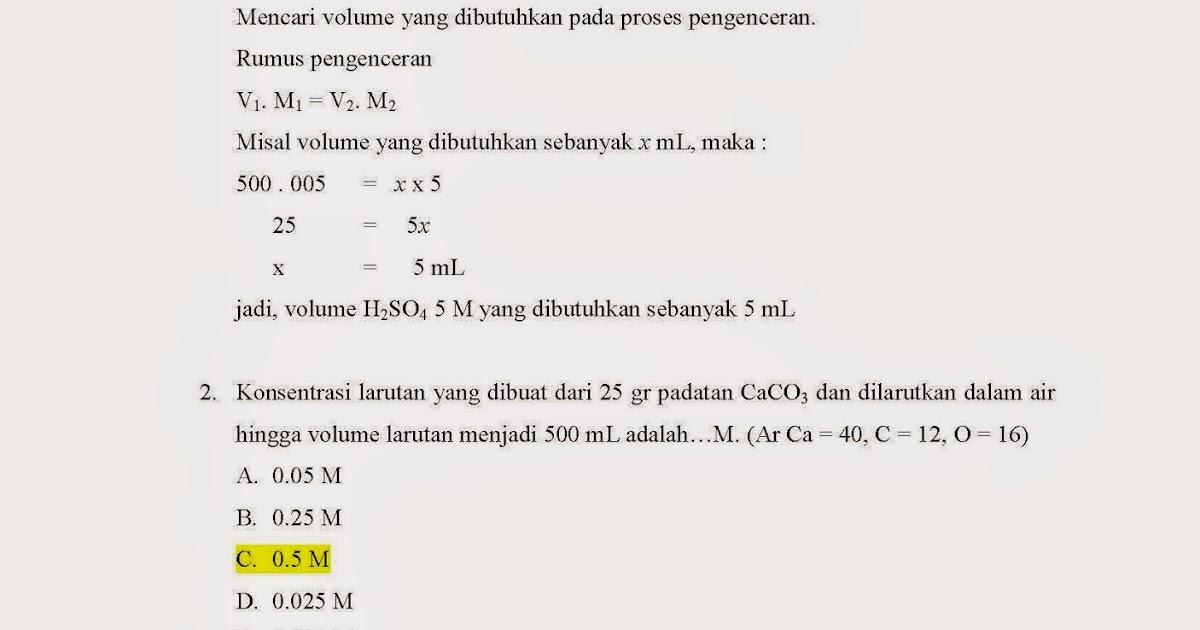 Guru Kimia Soal Laju Reaksi Dan Pembahasannya