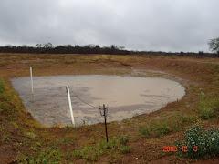 As primeiras água de chuva no barreiro