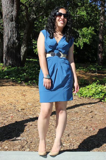 Forever 21 Teal Work Dress Outfit