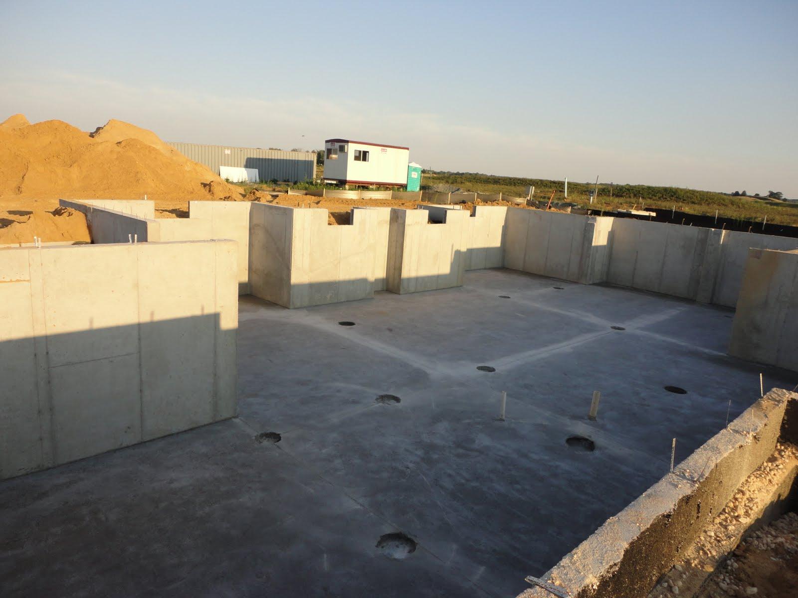 building a ryan homes avalon backfill basement and garage floor