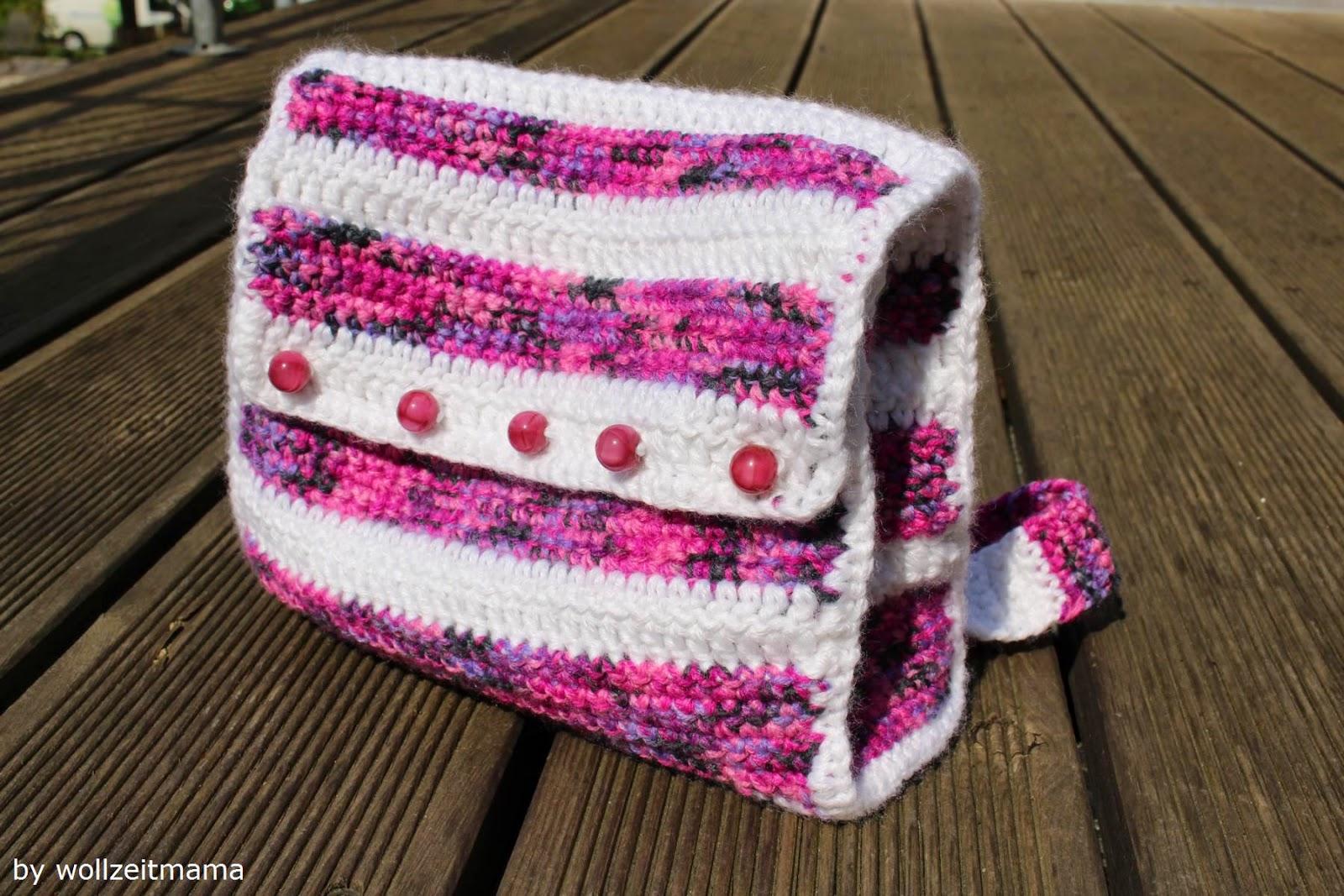 Rucksack häkeln für Kinder, Anleitung Mini-Rucksack kostenlos