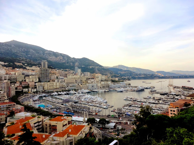 View over the city of Monaco