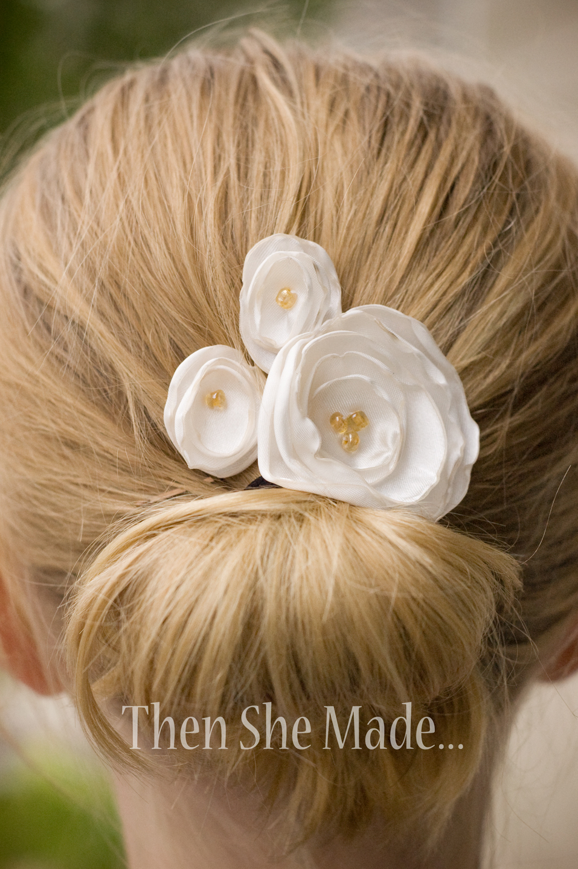 Then She Made Better Bigger Flower Hair Pins