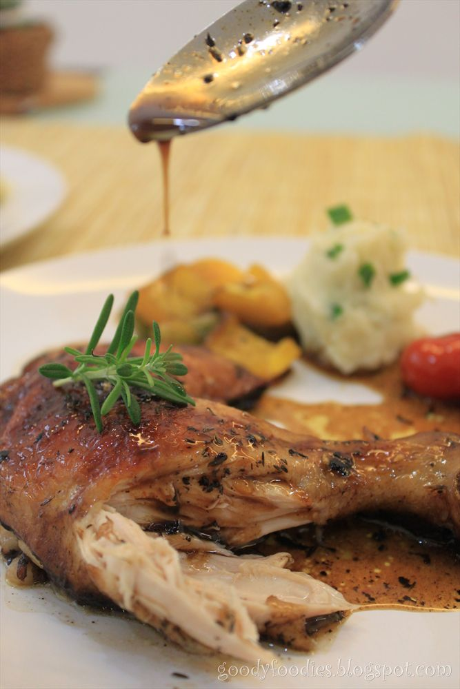 ... : Christmas Recipe: Balsamic Chicken with Roasted Vegetables & Champ