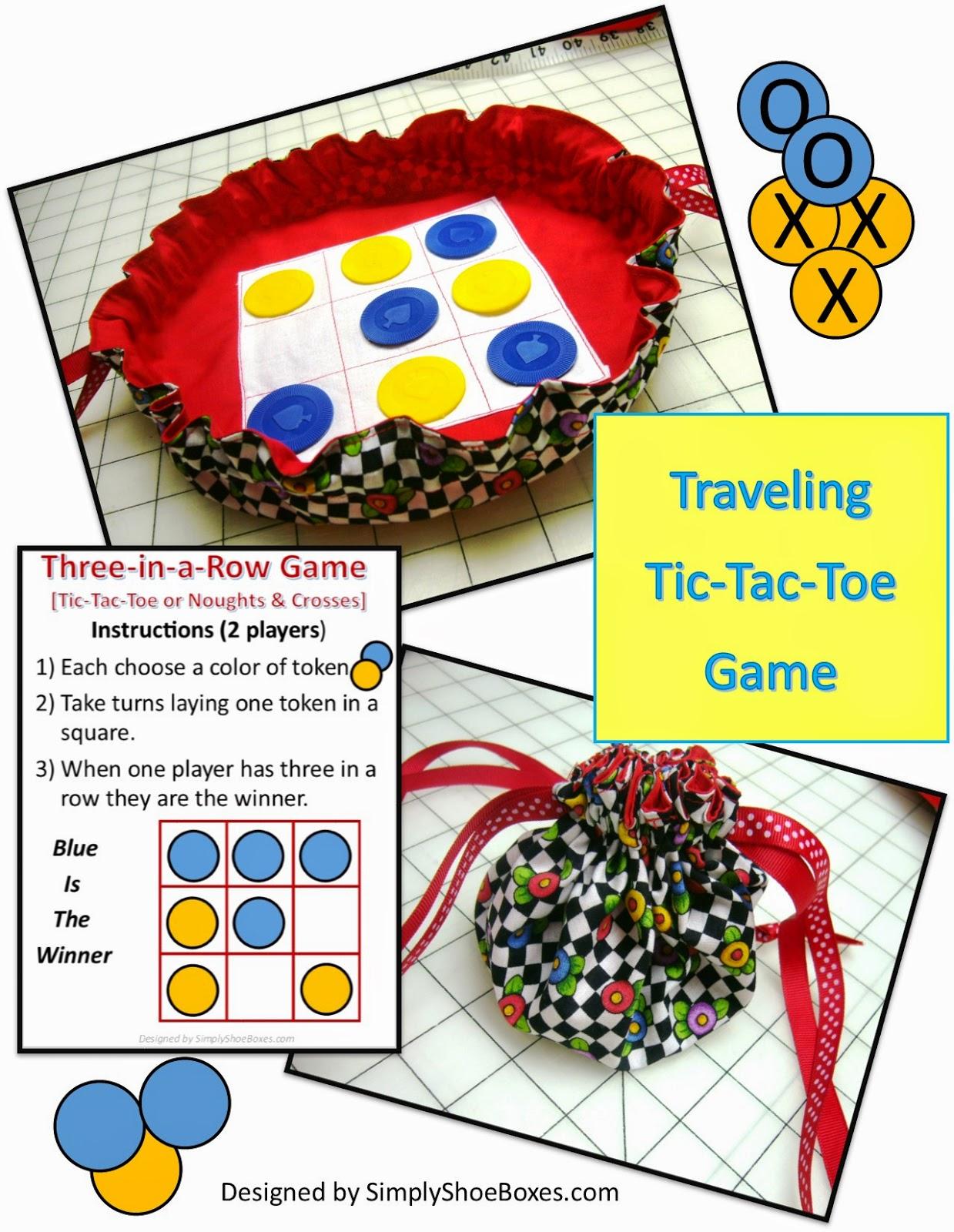 DIY Traveling Tic Tac Toe Game Tutorial