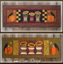 Spool N Around Wool or Cotton Applique Runner or Wallhanging