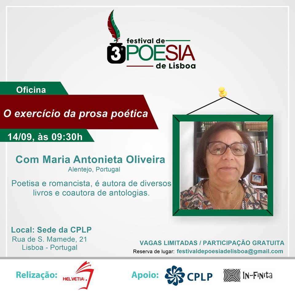 Minha participação no 3º festival da poesia de Lisboa