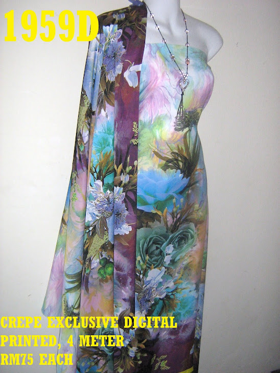 CDP 1959D: CREPE EXCLUSIVE DIGITAL PRINTED, 4 METER